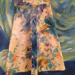 H&M artsy floral skirt